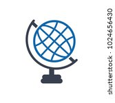 globe  geography icon | Shutterstock .eps vector #1024656430