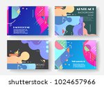 original presentation templates.... | Shutterstock .eps vector #1024657966