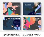 original presentation templates.... | Shutterstock .eps vector #1024657990