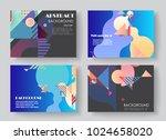 original presentation templates.... | Shutterstock .eps vector #1024658020