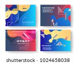 original presentation templates.... | Shutterstock .eps vector #1024658038