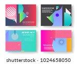 original presentation templates.... | Shutterstock .eps vector #1024658050