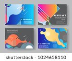 original presentation templates.... | Shutterstock .eps vector #1024658110