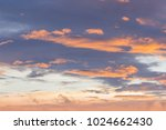 bright colors at dawn on the... | Shutterstock . vector #1024662430