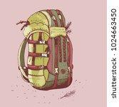 hiking backpack  vector... | Shutterstock .eps vector #1024663450