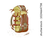 hiking backpack  vector... | Shutterstock .eps vector #1024664758