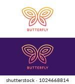 stylized geometric butterfly... | Shutterstock .eps vector #1024668814