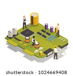 semiconductor electronic... | Shutterstock .eps vector #1024669408