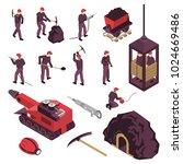 mining industry workers... | Shutterstock .eps vector #1024669486
