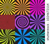 vector set of sunburst and...   Shutterstock .eps vector #1024672114