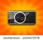 party headphones dj's music... | Shutterstock .eps vector #1024672978