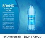 advertising poster  mineral... | Shutterstock .eps vector #1024673920