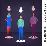 vector business concept...   Shutterstock .eps vector #1024675783