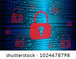 safety concept  closed padlock... | Shutterstock .eps vector #1024678798