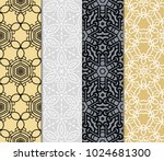 set of 4 decorative ethnic... | Shutterstock .eps vector #1024681300