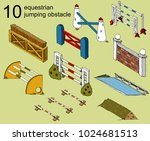 set vector isolated obstacle... | Shutterstock .eps vector #1024681513