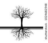 tree roots  vector illustration ... | Shutterstock .eps vector #1024682548
