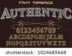vintage font typeface... | Shutterstock .eps vector #1024685668