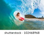 boogie boarder surfing amazing... | Shutterstock . vector #102468968
