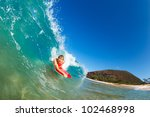 boogie boarder surfing amazing... | Shutterstock . vector #102468998