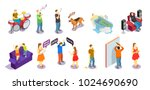 neighbors relations isometric... | Shutterstock .eps vector #1024690690