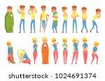 adult people feeling unwell ... | Shutterstock .eps vector #1024691374