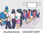 illustration of crowd of people ... | Shutterstock .eps vector #1024691509