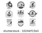 custom made free ride bike shop ...   Shutterstock .eps vector #1024691563