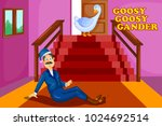 goosey goosey gander  kids... | Shutterstock .eps vector #1024692514