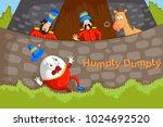 humpty dumpty kids english... | Shutterstock .eps vector #1024692520