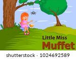 little miss muffet  kids... | Shutterstock .eps vector #1024692589