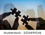 double exposure of businessman... | Shutterstock . vector #1024694146