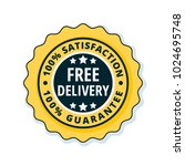 free delivery guarantee label... | Shutterstock .eps vector #1024695748