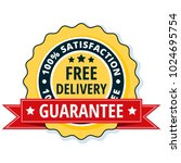 free delivery guarantee label... | Shutterstock .eps vector #1024695754