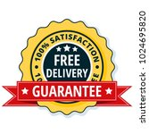 free delivery guarantee label... | Shutterstock .eps vector #1024695820