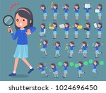 a set of girl with digital... | Shutterstock .eps vector #1024696450
