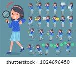 flat type blue clothes headband ... | Shutterstock .eps vector #1024696450