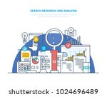 search research and analysis.... | Shutterstock .eps vector #1024696489
