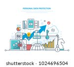 personal data protection.... | Shutterstock .eps vector #1024696504