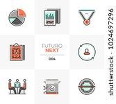 modern flat icons set of... | Shutterstock .eps vector #1024697296