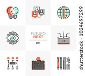 modern flat icons set of... | Shutterstock .eps vector #1024697299