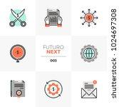 modern flat icons set of...   Shutterstock .eps vector #1024697308