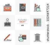 modern flat icons set of office ... | Shutterstock .eps vector #1024697314