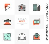 modern flat icons set of doing... | Shutterstock .eps vector #1024697320