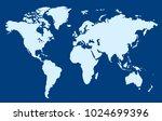 world map vector. | Shutterstock .eps vector #1024699396