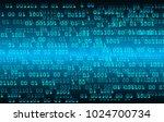 binary circuit board future... | Shutterstock .eps vector #1024700734