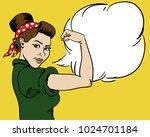 american woman. housewife. girl ... | Shutterstock .eps vector #1024701184