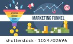 the digital marketing funnel... | Shutterstock .eps vector #1024702696