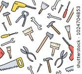 cartoon tools background  ... | Shutterstock .eps vector #1024704853