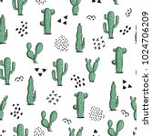 cute seamless pattern with... | Shutterstock .eps vector #1024706209